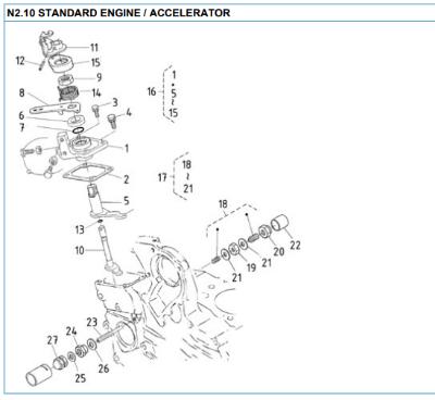 Nanni 2.10 accelerator reservedele