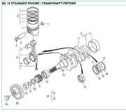 Nanni 2.10 Crankshaft-pistons