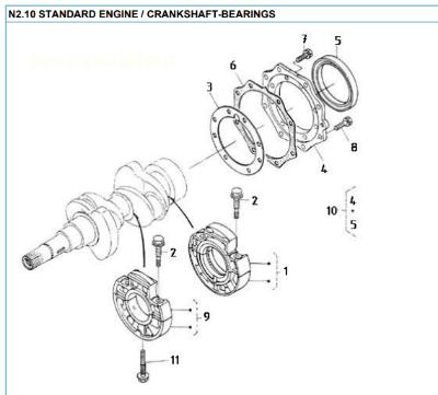 Nanni Crankshaft bearings 2.10
