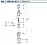 N2.10 Injection Nozzle Nanni diesel